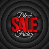 Retro bakgrund för Black Friday Sale vektor Arkivfoto