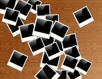 Retro bakgrund för polaroidfotoram stock illustrationer
