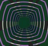 Retro bakgrund för tunnel Stock Illustrationer