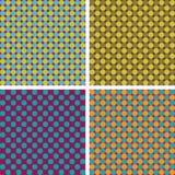 Retro bakgrund för vektor i 4 färguppsättningar Arkivbilder