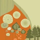 Retro bakgrund för vinter vektor illustrationer