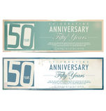 Retro bakgrund för årsdag, 50 år Arkivfoton