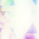 Retro bakgrund med mångfärgade trianglar Royaltyfria Bilder