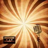 Retro musikbakgrund Vektor Illustrationer