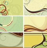 retro bakgrundskurva vektor illustrationer