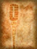retro bakgrundsmikrofon Royaltyfri Bild