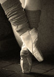 Retro Ballerina Feet Stock Photo