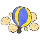retro ballong för varm luft för tecknad film Arkivbilder