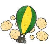 retro ballong för varm luft för tecknad film Arkivfoto