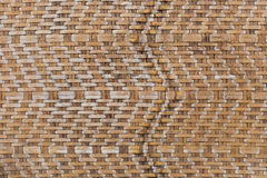 Retro bamboo weave pattern texture background Royalty Free Stock Photo