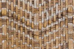Retro bambus wyplata deseniowego tekstury tło Zdjęcie Stock