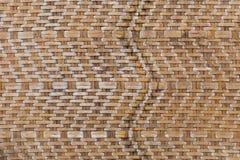 Retro bambus wyplata deseniowego tekstury tło Zdjęcie Royalty Free