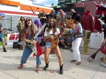Retro Band van de Muziek Stock Fotografie