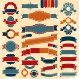 Retro bandiere dei nastri Immagini Stock Libere da Diritti