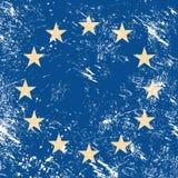 Retro bandierina dell'Ue Fotografie Stock