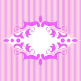 Retro banner. Retro texture with pink lines Royalty Free Stock Photography