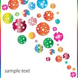 Retro banner. Retro texture with colorful stars Stock Image