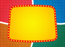 Retro banner on colorful halftone background Royalty Free Stock Photography