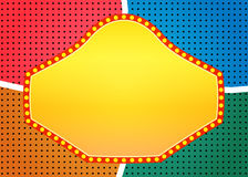 Retro banner on colorful halftone background Stock Photography