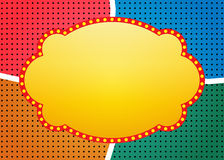 Retro banner on colorful halftone background Royalty Free Stock Photo
