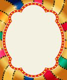 Retro banner on colorful shining background. Vector illustration Stock Illustration