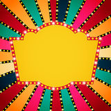 Retro banner on colorful shining background Stock Images