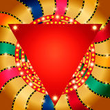 Retro banner on colorful shining background. Vector illustration Royalty Free Stock Photography