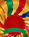 Retro banner on colorful shining background. Vector illustration Royalty Free Stock Images