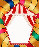 Retro banner with curtain on colorful shining background. Vector illustration Vector Illustration