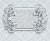 Retro banner with floral elements Royalty Free Stock Photo