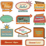 Retro banner sign/ad collection Royalty Free Stock Image