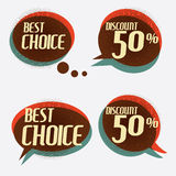 Retro banner sign/ad discount. Vector illustration Stock Image