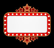 Retro banner with stars isolated on black background Stock Photo