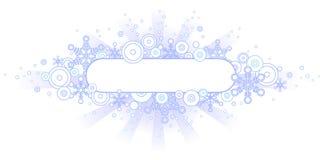 Retro Banner van de Winter Royalty-vrije Stock Fotografie