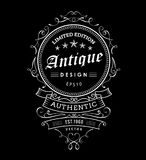 Retro banner vintage frame design western label typography vecto Stock Photography