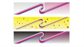 Retro banners, headers Royalty Free Stock Photo