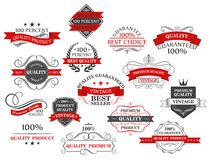 Retro banners and labels set for retail business Stock Images