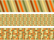 Retro banners. Stylish retro banner set with different pattern Royalty Free Stock Photo