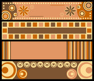 Retro Banners [Warm Colors]. Four retro banners in warm colors. Three different versions (pink, blue and warm colors) in my portfolio Stock Photo