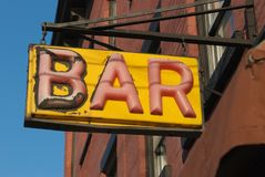 Retro Bar Sign Stock Photography