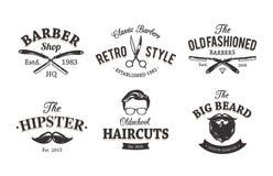 Retro- Barber Emblems Stockbild