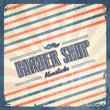 Retro- Barber Shop - Weinleseart Stockbild