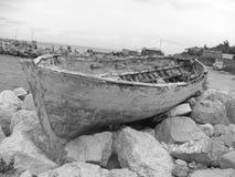 Retro barca Fotografia Stock Libera da Diritti