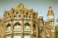 Retro Barcelona Stock Afbeeldingen