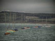 Retro barche a vela Fotografia Stock Libera da Diritti
