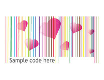 Retro barcode Royalty Free Stock Images