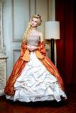 Retro- barocke Modefrau Lizenzfreie Stockfotos