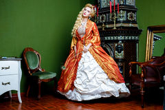 Retro baroque fashion woman Stock Photo