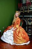Retro baroque fashion woman Stock Photos