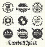 Retro Baseball Labels and Icons Royalty Free Stock Photo